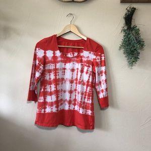 Neon Buddha | Tie Dye 3/4 Sleeve T-Shirt